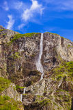 Waterfall in Fjord Sognefjord - Norway Royalty Free Stock Photo