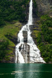 Waterfall fjord Stock Photography