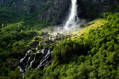 Waterfall in Flam, Norway Royalty Free Stock Photos