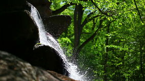 Waterfall flowing down stock footage