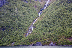 Waterfall flowing Stock Images