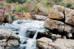 Waterfall, flowing water, nature stock image