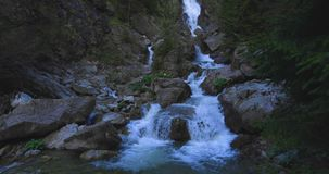 Waterfall. Footage of stones and waterfall stock footage
