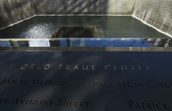 Waterfall Footprint of WTC, National September 11 Memorial, New York City, New York, USA Royalty Free Stock Photos