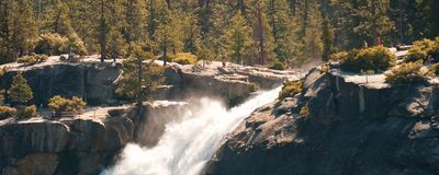 Waterfall and forest Stock Photography