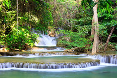 Waterfall in the forest. Deep forest Waterfall in Kanchanaburi, Thailand Royalty Free Stock Photography
