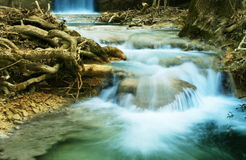Waterfall in forest Stock Photography