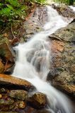 Waterfall in forest. Beautiful waterfall in deep forest Stock Images