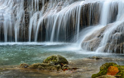 Waterfall in forest. Royalty Free Stock Image