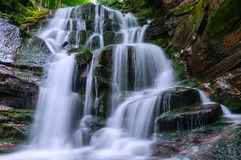 Waterfall in the forest Royalty Free Stock Photo