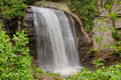 Waterfall In The Forest. A beautiful waterfall in the Pisgah National forest - the Looking Glass Falls, near Brevard, North Carolina Stock Images