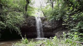 Waterfall forest cascade stock video footage