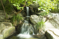 Waterfall in a forest Stock Photography