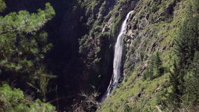 Waterfall in the forest, Chile. `Salto del Agua` waterfall in the forest near of Valparaiso, Chile stock video