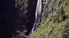 Waterfall in the forest, Chile. `Salto del Agua` waterfall in the forest near of Valparaiso, Chile stock footage