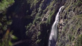 Waterfall in the forest, Chile. `Salto del Agua` waterfall in the forest near of Valparaiso, Chile stock video footage