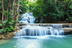 Waterfall in forest deep quiet Royalty Free Stock Photo
