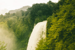 Waterfall and forest in Italy. Waterfall and wild forest in Italy Royalty Free Stock Photo