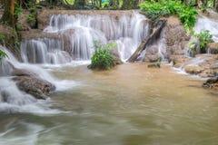 Waterfall and forest at Kanjanaburi, Thailand Aug 2016 Royalty Free Stock Image