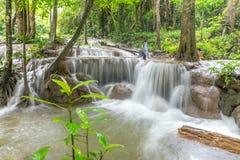 Waterfall and forest at Kanjanaburi, Thailand Aug 2016 Stock Photos