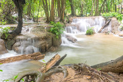 Waterfall and forest at Kanjanaburi, Thailand Aug 2016 Royalty Free Stock Photography