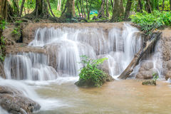 Waterfall and forest at Kanjanaburi, Thailand Aug 2016 Royalty Free Stock Photos