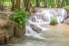 Waterfall and forest at Kanjanaburi, Thailand Aug 2016 Stock Photography