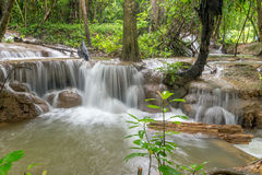 Waterfall and forest at Kanjanaburi, Thailand Aug 2016 Royalty Free Stock Images