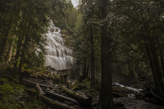 Waterfall in forest. Large waterfall in a forest Stock Images