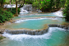 Waterfall in forest in Luang Prabang, Lao Stock Photography