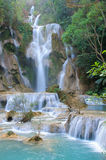 Waterfall in forest in Luang Prabang, Lao Royalty Free Stock Photo