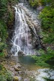 A waterfall in the forest near Kitimat, British Columbia stock photography