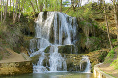 Waterfall in the forest park Royalty Free Stock Images