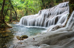 Waterfall in forest. Phatad waterfall, beautifull waterfall in deep forest, Thailand Stock Photography
