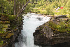 Waterfall in a forest Royalty Free Stock Images