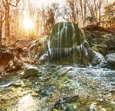 Waterfall in forest Stock Image