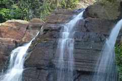 Waterfall. A Waterfall at forest in Sri Lanka Royalty Free Stock Photography