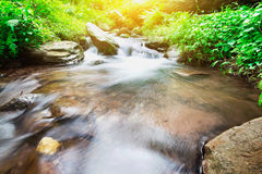 Waterfall in forest thailand and cool Royalty Free Stock Image