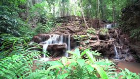 Waterfall in the forest of Thailand. In the mounten of thailand in the forest there is an beautiful waterfall stock video