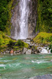 Waterfall in the forest in Westland National Park, New Zealand Royalty Free Stock Image