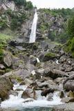 Waterfall of Foroglio in Bavona valley on Switzerland Royalty Free Stock Photos