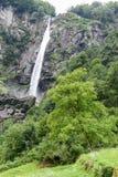 Waterfall of Foroglio in Bavona valley on Switzerland Royalty Free Stock Image