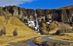 Waterfall, Foss, Sida, Iceland Royalty Free Stock Photo