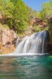 Waterfall on Fossil Creek. A  scenic waterfall along fossil creek in northern arizona Stock Image