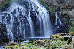 Waterfall in france. In Auvergne, france, we can find some very wild waterfall Royalty Free Stock Photos