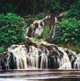 Waterfall in gabon. Waterfall in the jungle of gabon Stock Photos