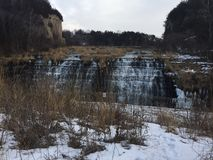 Waterfall in Galena Illinois Stock Images