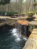 Waterfall in a Garden Stock Photography