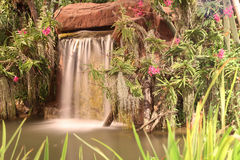 Waterfall in garden Royalty Free Stock Photography
