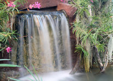 Waterfall in garden Stock Photos